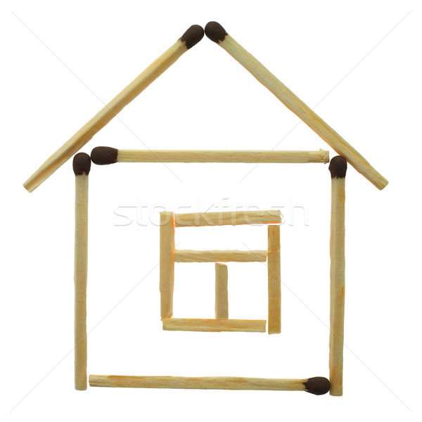 Small house from matches Stock photo © pzaxe
