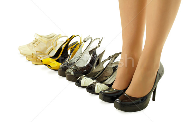 female legs in high heels Stock photo © pzaxe