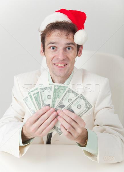 Clerk has received Christmas premium Stock photo © pzaxe
