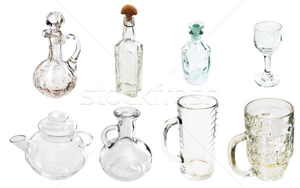 A transparent glass carafe Stock photo © pzaxe