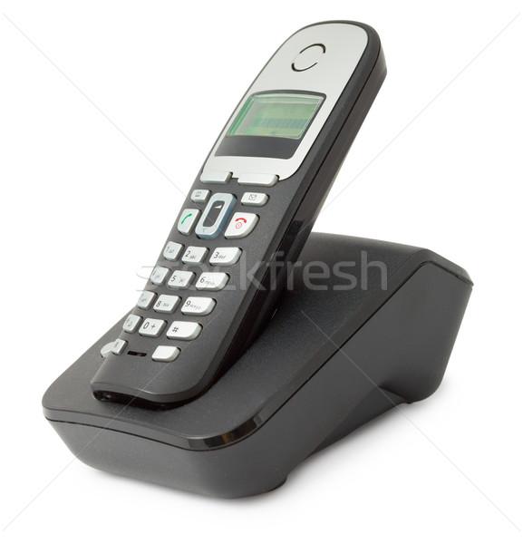 Ordinary office desktop telephone Stock photo © pzaxe