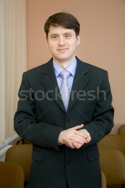 Businessman in a suit Stock photo © pzaxe