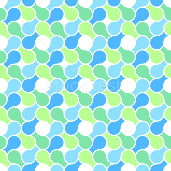 Vector seamless pattern - abstract blue & green pastel color wra Stock photo © pzaxe