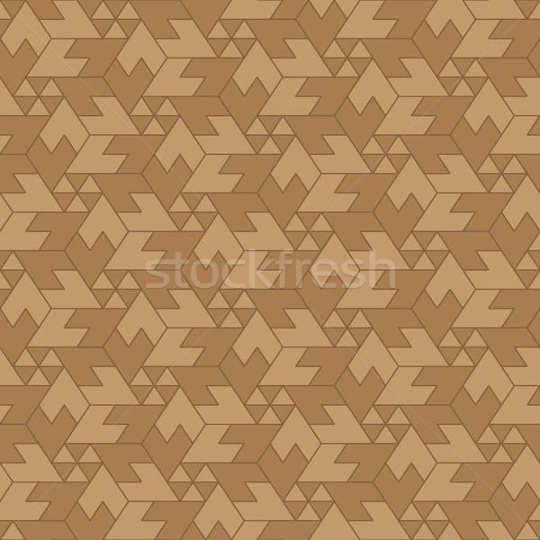 Naadloos arrangement bruin illustratie meetkundig Stockfoto © pzaxe