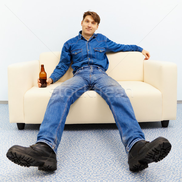 Normal inhabitant resting at home Stock photo © pzaxe