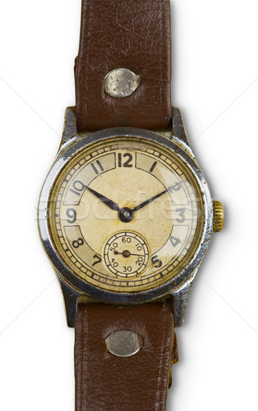 Vintage watches with leather strap Stock photo © pzaxe