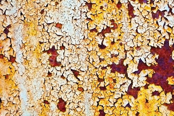 Screpolato arrugginito superficie metallica metal verniciato superficie Foto d'archivio © pzaxe