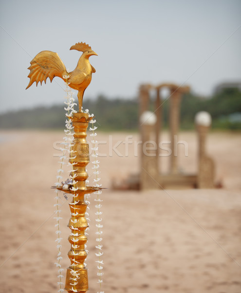 Ritual Dekorationen traditionellen Hochzeit Strand Blumen Stock foto © pzaxe