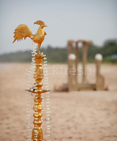 Ritual decorações tradicional casamento praia flores Foto stock © pzaxe