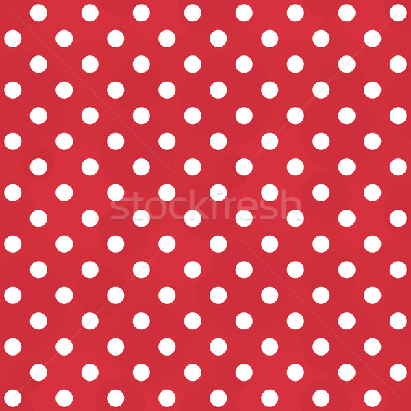 Vector vintage white and red pattern - seamless polka dots Stock photo © pzaxe