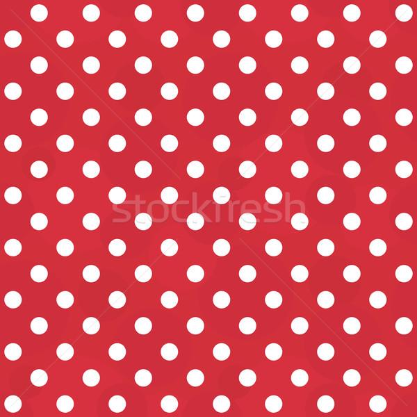 Vektör bağbozumu beyaz kırmızı model Stok fotoğraf © pzaxe