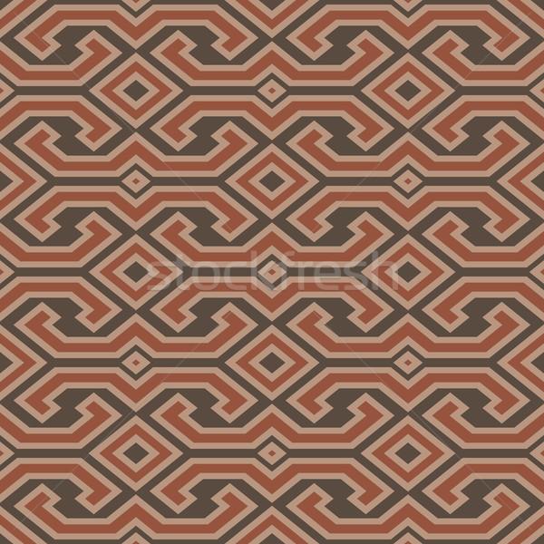 Seamless vintage Toraja color pattern. Ethnic vector textured ba Stock photo © pzaxe