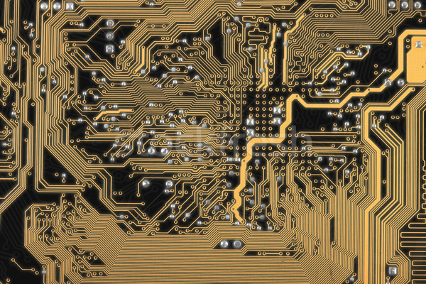 Abstract circuit board dark background Stock photo © pzaxe