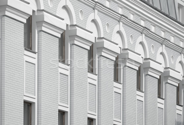 Beautiful architecture on a gray and white building Stock photo © pzaxe