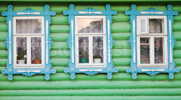 Three rural windows Stock photo © pzaxe