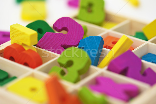 Stock photo: School material for arithmetics teaching