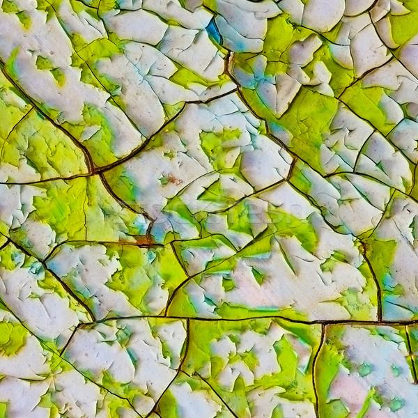 Velho esmalte rachaduras pintar rede textura Foto stock © pzaxe