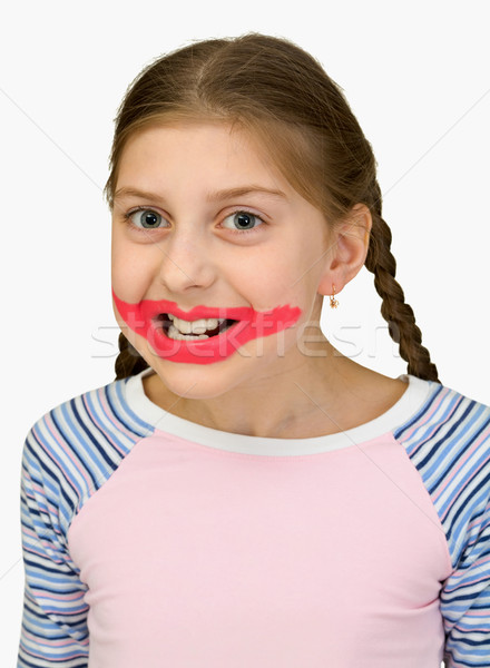 Stock photo: Girl playing the clown