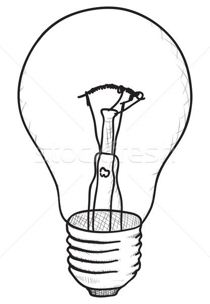 Semplice vettore sketch in bianco e nero eps8 Foto d'archivio © pzaxe