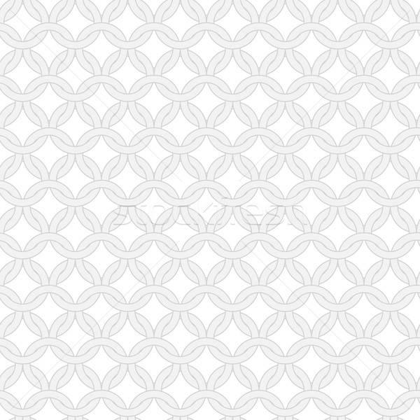 Simple geometric vector seamless interwoven rings pattern Stock photo © pzaxe