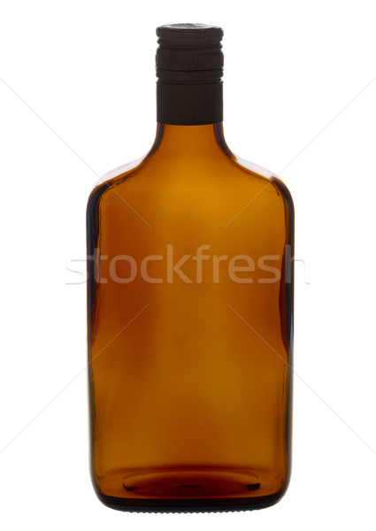 Brown empty liqueur bottle isolated on a white Stock photo © pzaxe
