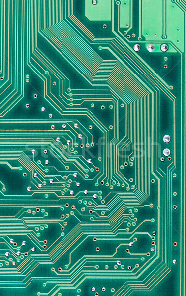 Industrial electronic high-tech circuit green background Stock photo © pzaxe