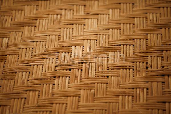 Handmade bamboo mat background Stock photo © pzaxe