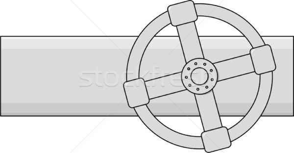 Simple vector gas válvula gris color Foto stock © pzaxe