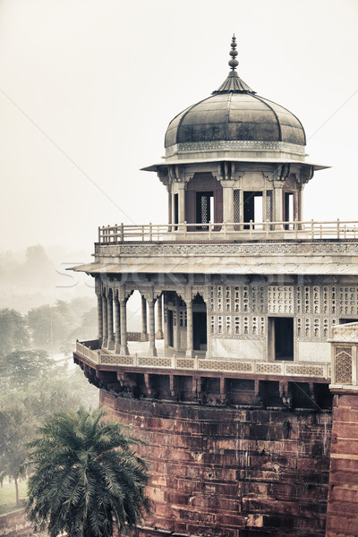 Marble tower in Agra, India Stock photo © pzaxe