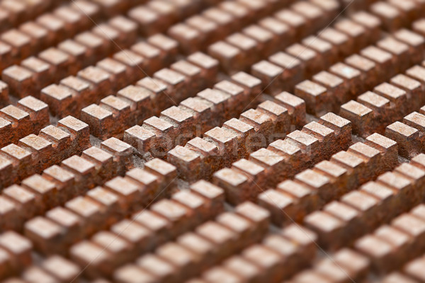 Surface of rusty steel deck in an industrial building Stock photo © pzaxe