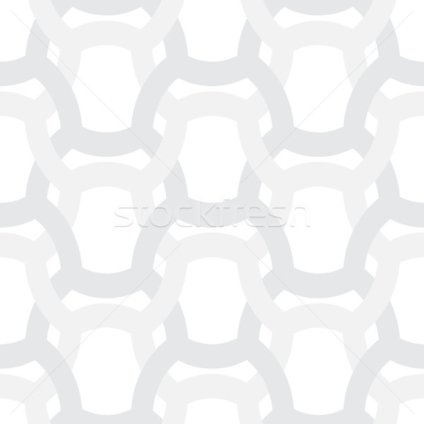 Abstract simple geometric vector pattern - entwined gray grides  Stock photo © pzaxe