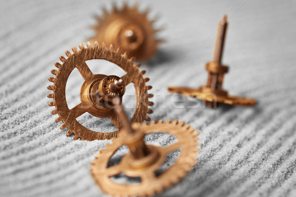 Watch gears on sand - abstract still life Stock photo © pzaxe