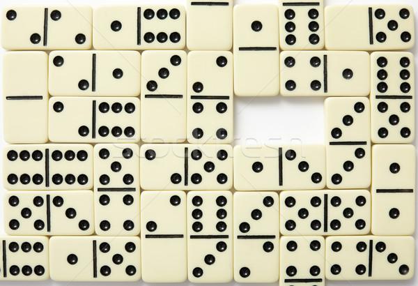 Wall from bones of a dominoe Stock photo © pzaxe