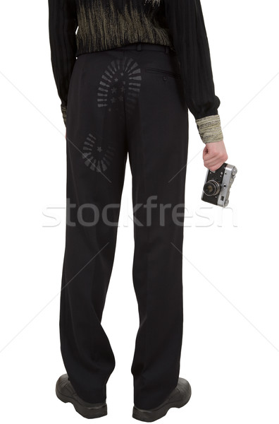 Stock photo: Fired photographer standing a back with camera