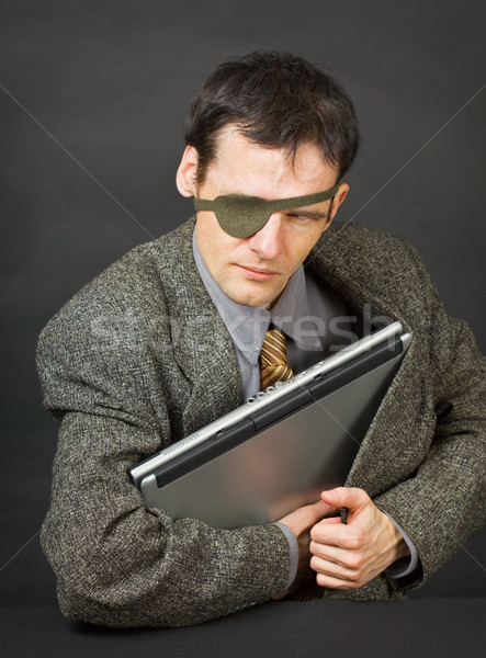 Computer pirates stole laptop with information Stock photo © pzaxe