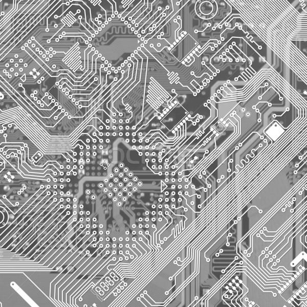 Imprimé monochrome industrielle circuit texture graphique Photo stock © pzaxe