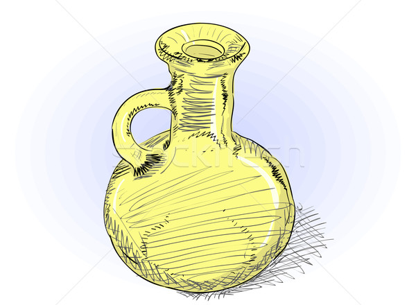 Carafe - vector rough illustration  Stock photo © pzaxe