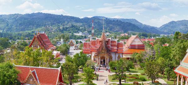 Budista templo Tailândia phuket panorama antigo Foto stock © pzaxe