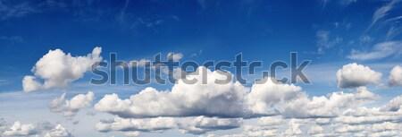 Nublado blue sky panorama azul anos céu Foto stock © pzaxe