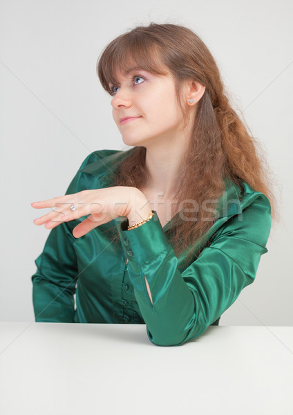 Mooi meisje tabel meisje hand sexy mode Stockfoto © pzaxe