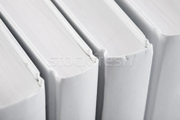 White backs of books close up Stock photo © pzaxe