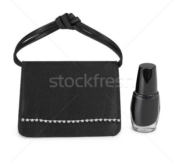女士們 手提包 化妝品 小瓶 小 白 商業照片 © pzaxe