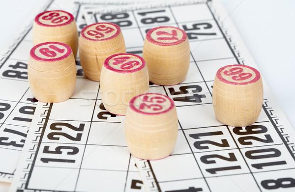Bingo cartas fondo signo negro anillo Foto stock © pzaxe