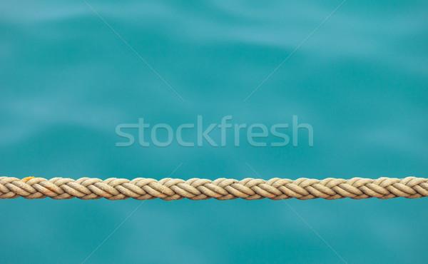 Navire corde mer eau beauté océan Photo stock © pzaxe