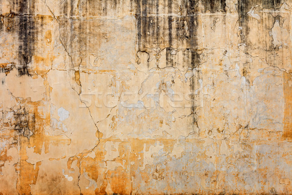 Old concrete wall with peels off paint Stock photo © pzaxe