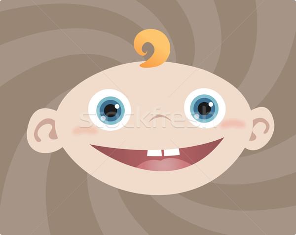 Baby jongen gezicht Stockfoto © qiun