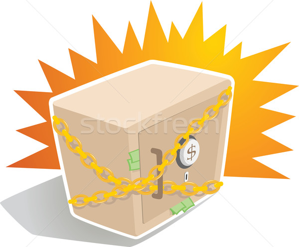 Strong Box with Chain Stock photo © qiun