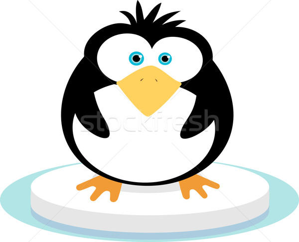 Pingüino hielo aves animales Cartoon Foto stock © qiun