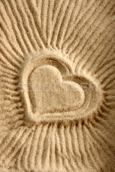 Heart shape on sand  Stock photo © qiun