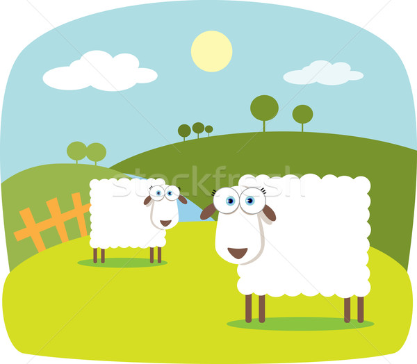 Cartoon Sheep with Big Eye  Stock photo © qiun